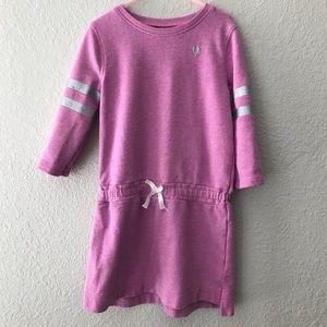 OshKosh Sweatshirt Dress Tunic Silver Stripes 7